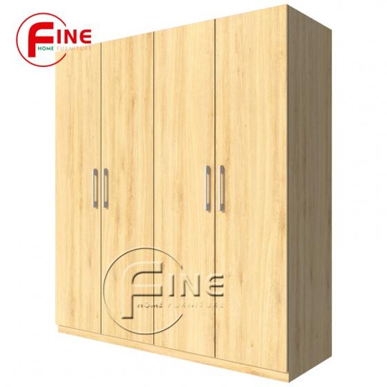 Tủ Quần Áo FINE FT012 Kích thước 1m8, Thiết kế hiện đại, ngăn tủ rộng treo quần áo rất thoải mái