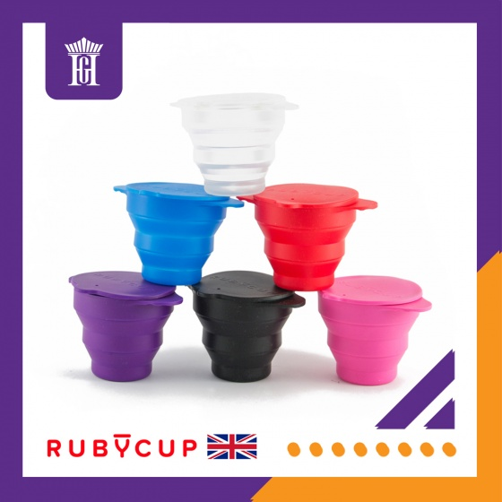 Cốc tiệt trùng Ruby Clean, Màu Đen, Dung tích 225ml, Độ chịu nhiệt 230 độ C, Hàng chính hãng, Thương hiệu Rubycup, Anh