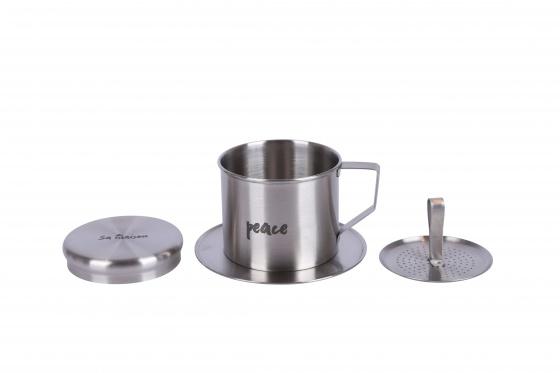 Bộ pha café Peace-Vintage 3 món (phin cafe, cốc và đĩa sứ 30cm) Sa Maison