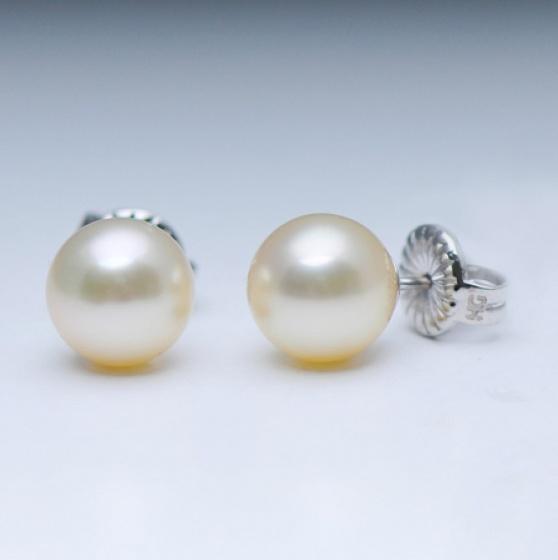Bông tai-Khuyên tai-Hoa tai ngọc trai Akoya 8.1-9mm chất liệu Vàng trắng Quý phái sang trọng E1002W2A11Y051002K000