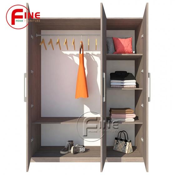 Tủ Quần Áo FINE FT008 Kích thước 1m2, Gỗ MFC ngoại nhập, thiết kế hiện đại