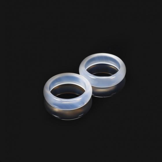 Nhẫn nữ đá mã não trắng - Ngọc Quý Gemstones