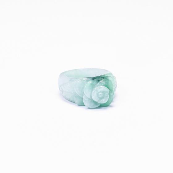 Nhẫn cẩm thạch phỉ thúy hoa mẫu đơn - Ngọc Quý Gemstones