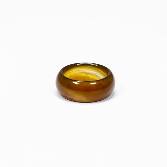 Nhẫn nam đá mã não vàng nâu - Ngọc Quý Gemstones