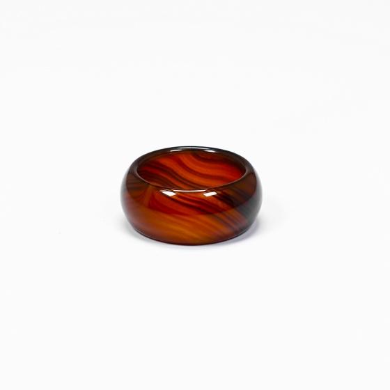 Nhẫn nam đá mã não nâu đỏ - Ngọc Quý Gemstones