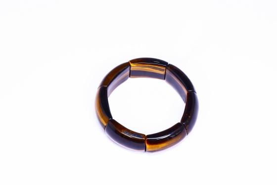 Vòng tay đá mắt hổ bản lớn - Ngọc Quý Gemstones