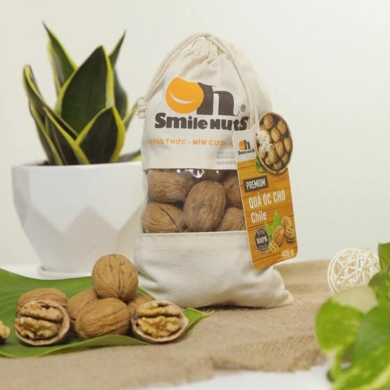 Quả óc chó Chile Smile Nuts túi canvas 425g - kèm dụng cụ tách vỏ