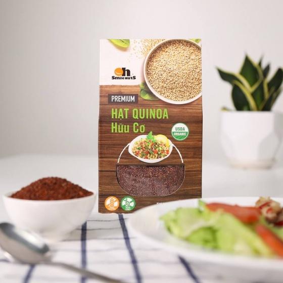 Hạt Quinoa diêm mạch Đỏ Smile Nuts hộp giấy 500g - Quinoa Seed Smile Nuts 500g