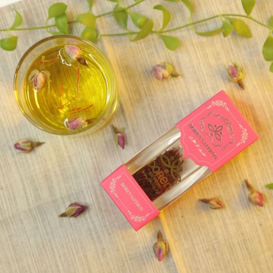 Saffron Doren - Nhụy hoa nghệ tây Iran hộp 1gr loại Negin thượng hạng