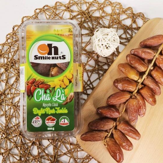 Chà là cành Deglet Nour Tunisia Smile Nuts hộp 250g - Dates fruit