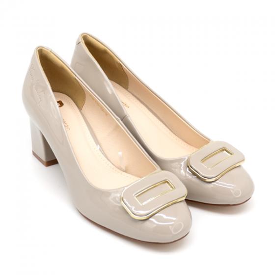 Giày gót vuông Pierre Cardin PCWFWSD106GRY màu xám