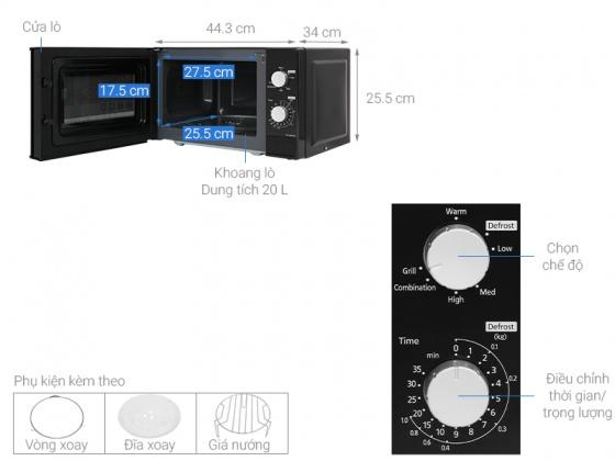 Lò vi sóng Electrolux EMG23K38GB