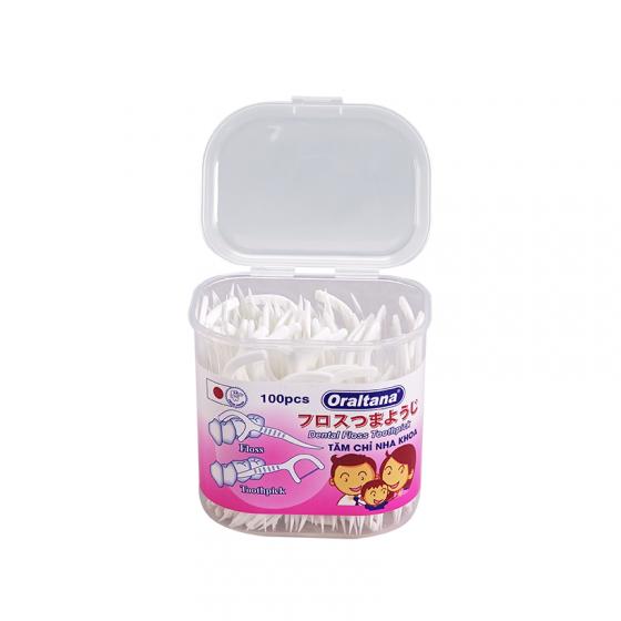 Combo 2 hộp 100 cái tăm chỉ nha khoa Oraltana - Giúp xỉa răng sạch sẽ và không lo hôi miệng