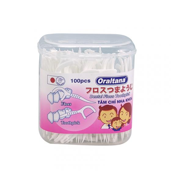 Combo 3 hộp 100 cái tăm chỉ nha khoa Oraltana - Giúp xỉa răng sạch sẽ và không lo hôi miệng