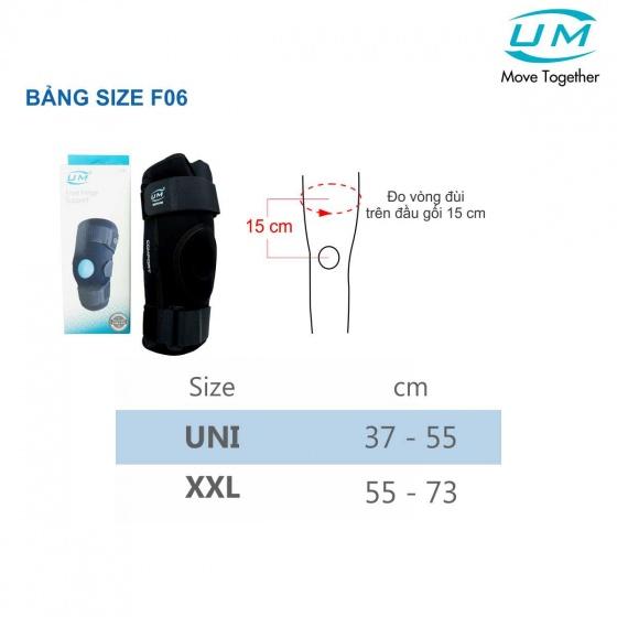 Bó gối đai dán có nẹp drytex UM (F-06) size XXL