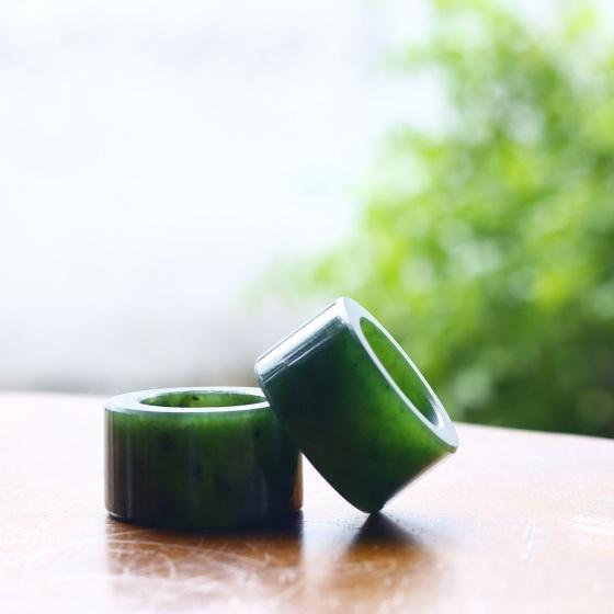 Nhẫn nam ngọc bích ni 22 mệnh mộc hỏa - Ngọc Quý Gemstones