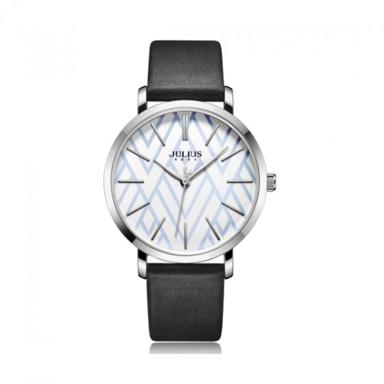Đồng hồ nữ Julius Hàn Quốc dây da JA-1114A ( đen)