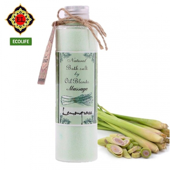 Muối massage chân ECOLIFE - Massage Salt - Lemongrass
