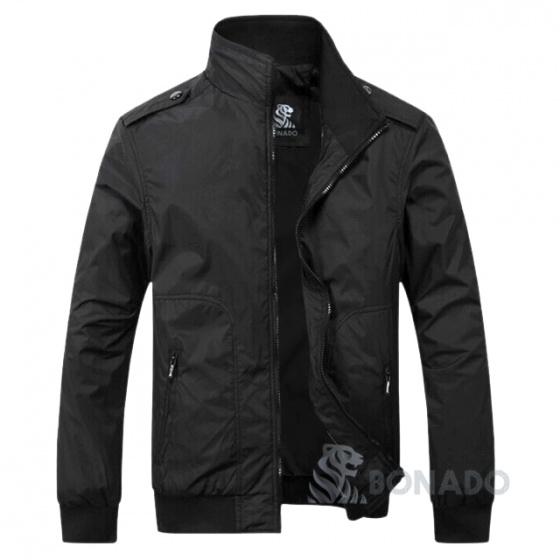Áo khoác dù nam phối cầu vai cao cấp bonado bak25 xanh đen, đen