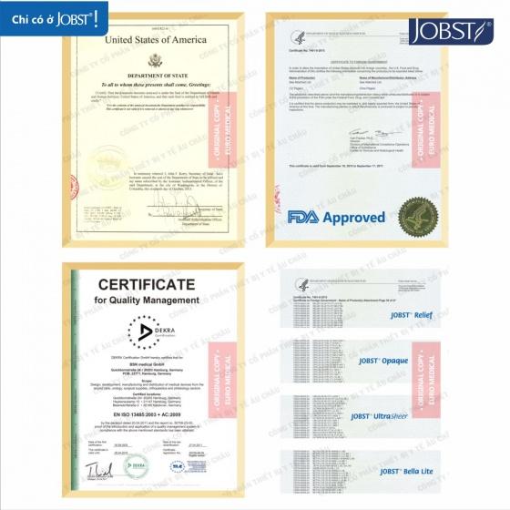 Vớ y khoa gối điều trị suy giãn tĩnh mạch chân Jobst Relief chuẩn áp lực 20-30mmHg,size XL (tất y khoa)
