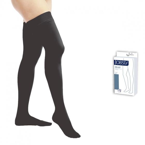 Vớ y khoa đùi điều trị suy giãn tĩnh mạch chân Jobst Relief chuẩn áp lực 20-30mmHg,màu đen,size XL (tất y khoa)