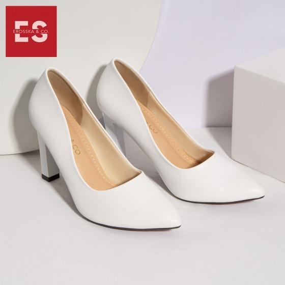 Giày cao gót Erosska thời trang mũi nhọn kiểu dáng cơ bản cao 10cm EP008