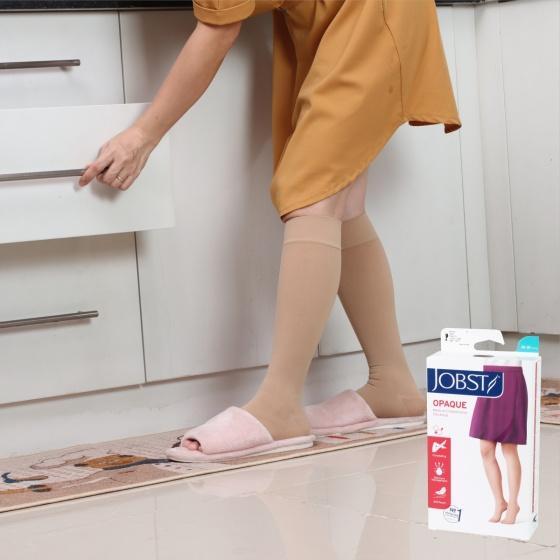 Vớ y khoa gối Jobst Opaque - mỏng điều trị giãn tĩnh mạch chân, 20-30 mmHg, size XL (tất y khoa)