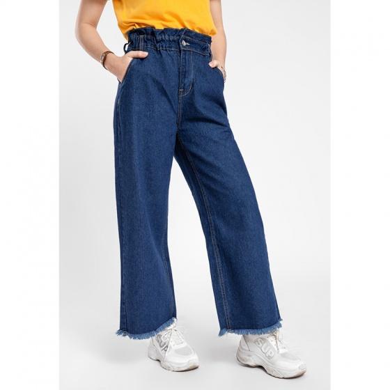 Quần jean nữ dài form rộng thời trang JONNY SON DX60