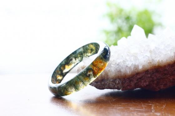 Vòng tay đá băng ngọc thủy tảo ni54 - Ngọc Quý Gemstones