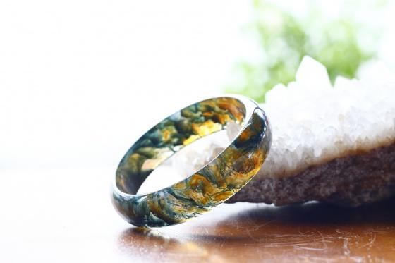 Vòng tay đá băng ngọc thủy tảo ni57 mẫu 7 - Ngọc Quý Gemstones