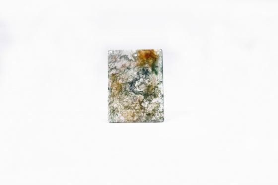 Mặt dây chuyền băng ngọc thủy tảo bản vuông 47x39mm - Ngọc Quý Gemstones