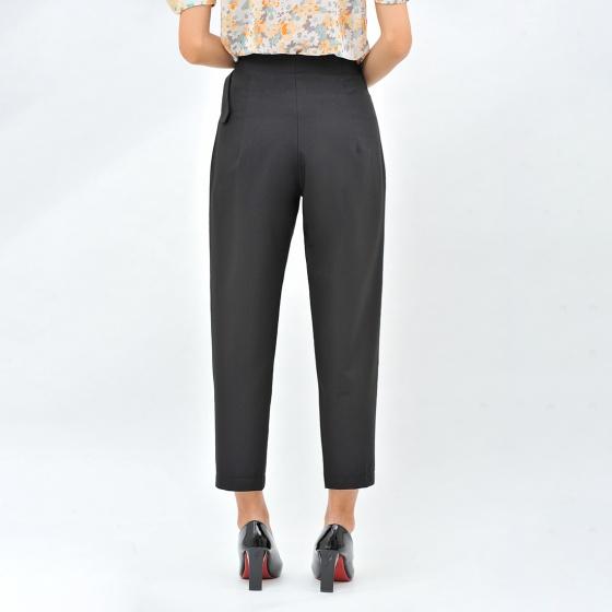 Quần tây công sở nữ baggy thời trang Eden phối thắt lưng - Q010