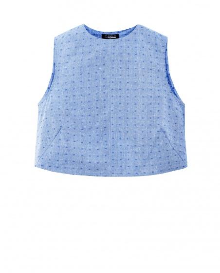 Áo croptop The Cosmo Audrey Top màu xanh TC2001105BL