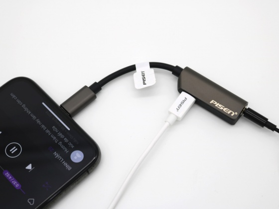 Pisen 2-in-1 Zinc Alloy Charging Music  Lightning + 3.5mm