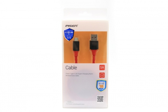 Pisen USB Type-C 5A Super Charging Nylon Braided 1500mm