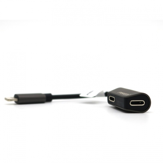Đầu chuyển Pisen 2-in-1 Zinc Alloy Charging - Music - Lightning Audio