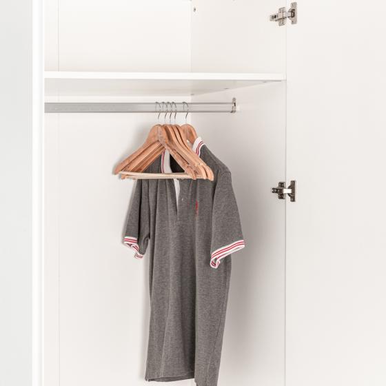 Tủ quần áo gỗ MOHO VIENNA 201 trắng