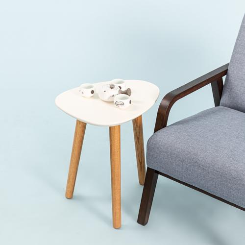 Bàn góc sofa MOHO LIKA màu trắng phối gỗ