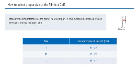 Đai hỗ trợ bắp chân FILMISTA CALF