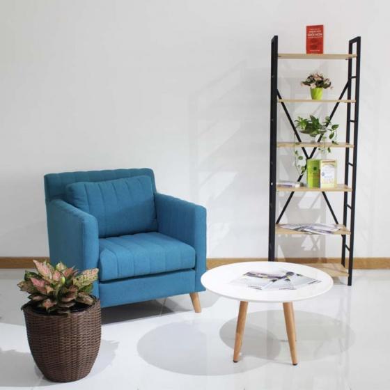 Kệ sách, kệ trang trí MDF khung kim loại sơn tĩnh điện chống gỉ sét Furnist Ceto - Màu ván bất kỳ