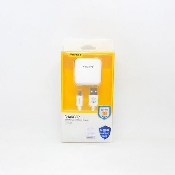 Cốc cáp sạc combo USB Charger 2A Micro
