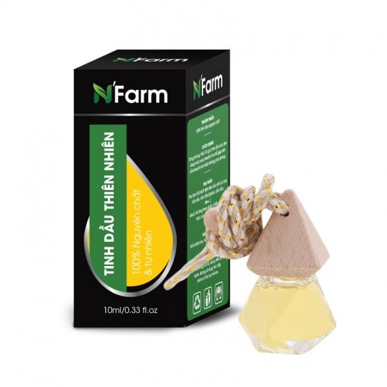 Tinh dầu oải hương nguyên chất treo xe hơi, tủ áo N'farm (10 ml)