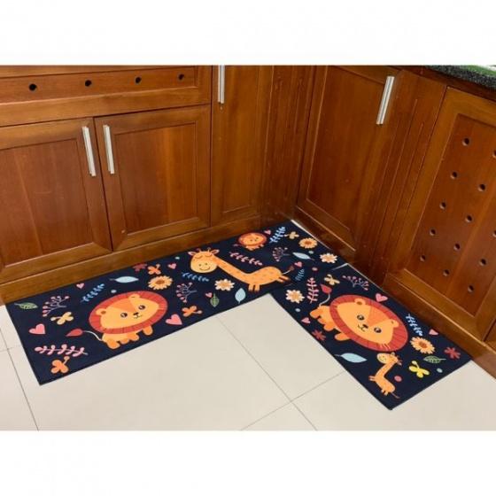 Combo 2 Thảm nhung nhà bếp sư tử 1 TSN52