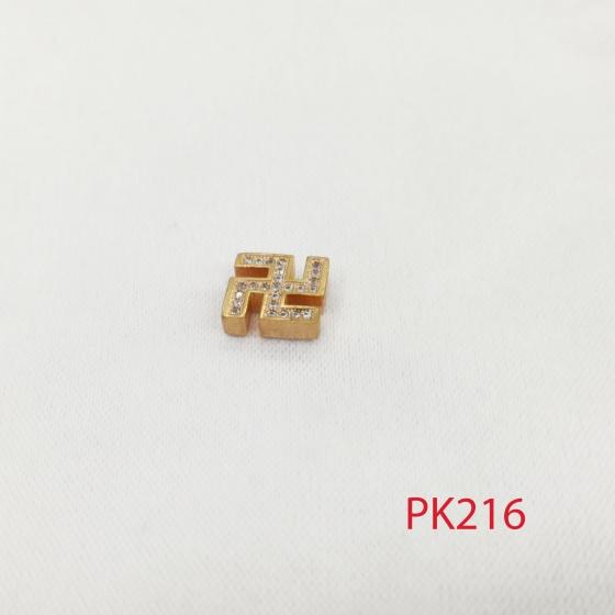 Charm chữ vạn đính đá phối trang sức phụ kiện vòng lắc tay pk216