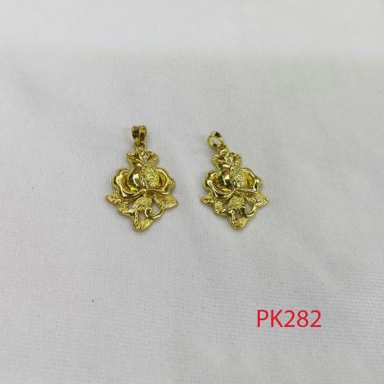 Charm hoa hồng vàng phối vòng, lắc, trang sức pk282