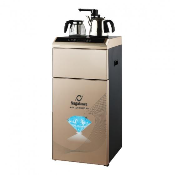 Máy lọc nước RO đa năng Nagakawa NAG0503 + Bình giữ nhiệt + Ấm đun - Vàng - hàng chính hãng