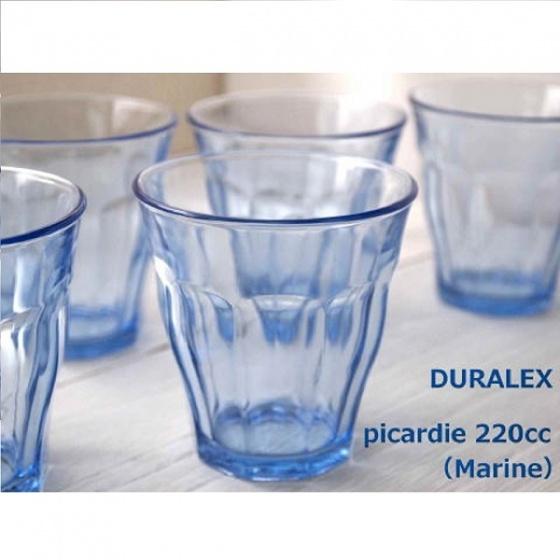Bộ 6 ly thuỷ tinh cường lực Pháp Duralex Picardie Xanh Marine 220ml