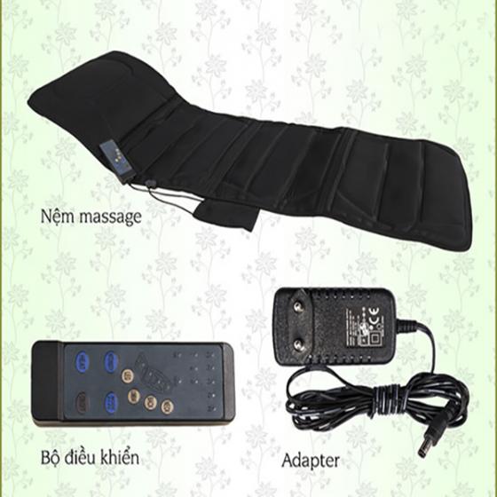 Nệm massage xoa bóp vùng lưng Air Bike Sports Bella - Màu đen