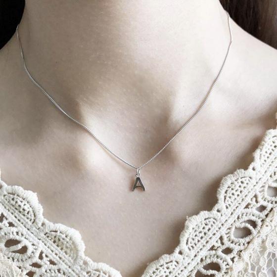 Dây chuyền bạc mặt chữ cái  - Ngọc Quý Gemstones