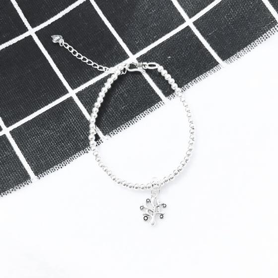 Lắc bi bạc 3mm cây trí tuệ - Ngọc Quý Gemstones